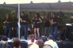 Debbie plays with Hector Colon's Orquesta La Unika at Pinecrest Garden