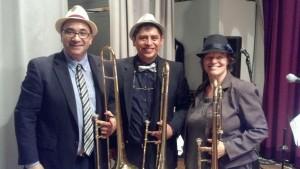 salsa music musicians trombone